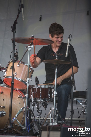 Drummer, Alan Reain of Fast Romantics at Wapiti Festival 2014- 9th August 2014
