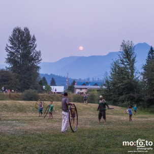Full moon over Wapiti Festival 2014- 9th August 2014