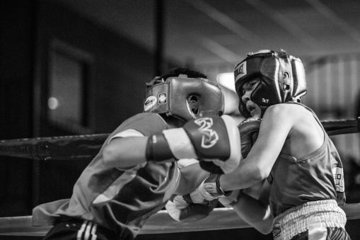 Judgement Night - Fernie Community Centre Boxing Charity Event In Aid of Smiles for Shyanne - 7th February 2015 - Eli Dychencho Vs Gavin Basla