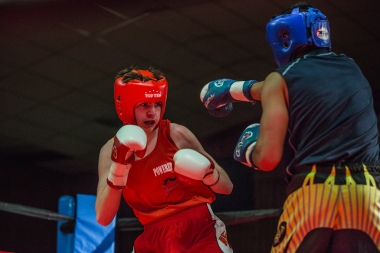 Judgement Night - Fernie Community Centre Boxing Charity Event In Aid of Smiles for Shyanne - 7th February 2015 - Mason Rachery Vs Gurbas Grewal