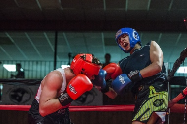 Judgement Night - Fernie Community Centre Boxing Charity Event In Aid of Smiles for Shyanne - 7th February 2015 - Nathan Metvier Vs Benett Bisla